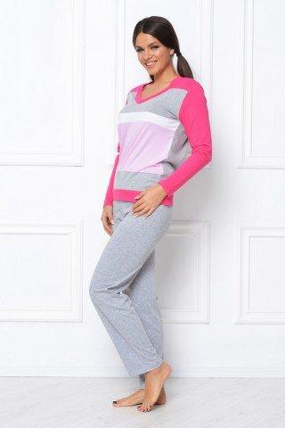 Pijama Natalee gri-roz