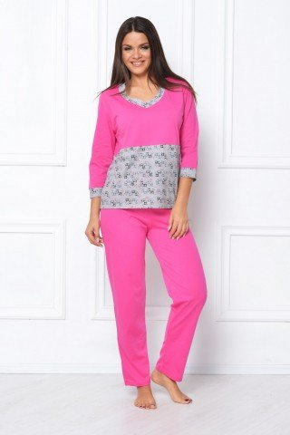 Pijama Natalee roz-gri