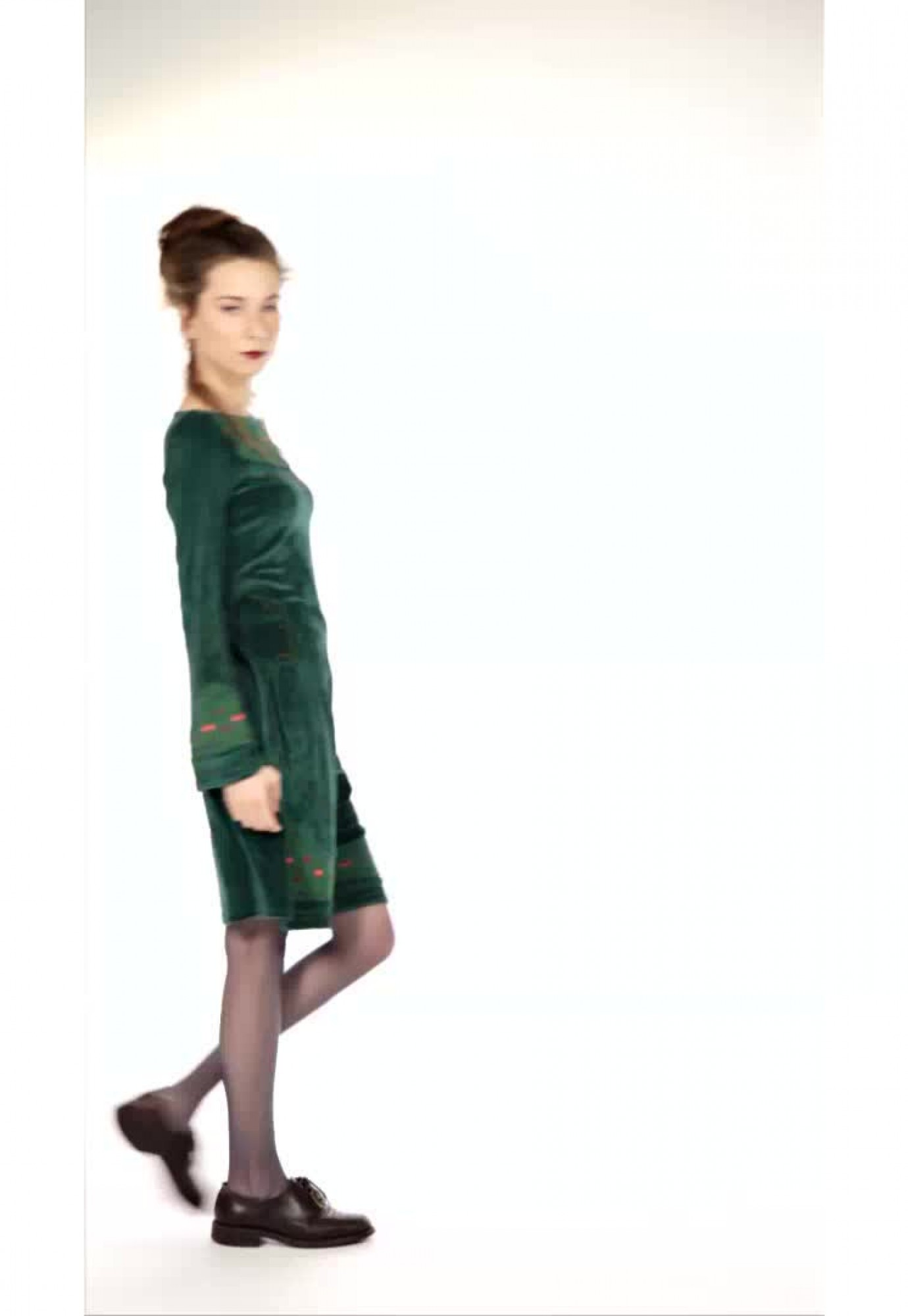 Rochie catifea verde Serenity