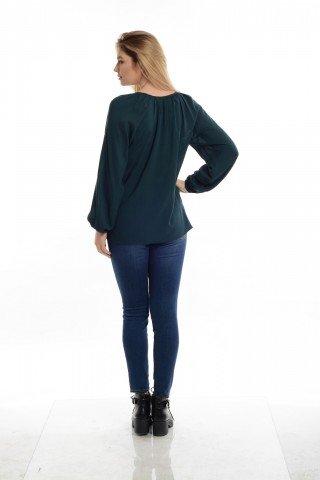 Bluza ie  verde  brodata