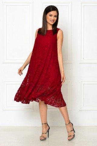 Rochie de ocazie din dantela rosie