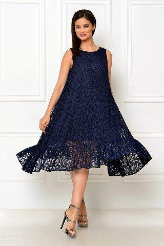 Rochie eleganta din dantela albastra